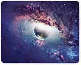 Space Planets mouse pad, Gaming mouse pad,Gaming Mouse Pad Universe Scene with Planets, Stars and Galaxies in Outer Space Non-Slip Rubber Personality Mouse Pads