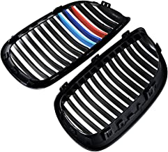 2 pcs Front Sport Kidney Grills For BMW 2007-2010 E92 E93 328i 335i 2-Door (Glossy Black + M-color)