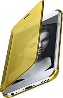 MoEx® Funda Protectora Fina Compatible con Huawei P10 | Cristal Tintado Transparente, doré