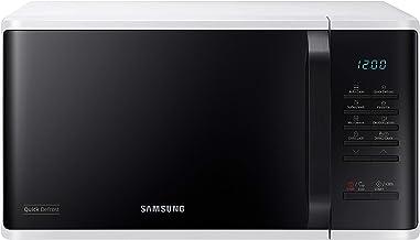 Samsung MS23K3513AW/EG - Microondas (Encimera, Solo microondas, 23 L, 800 W, Botones, Giratorio, Blanco)