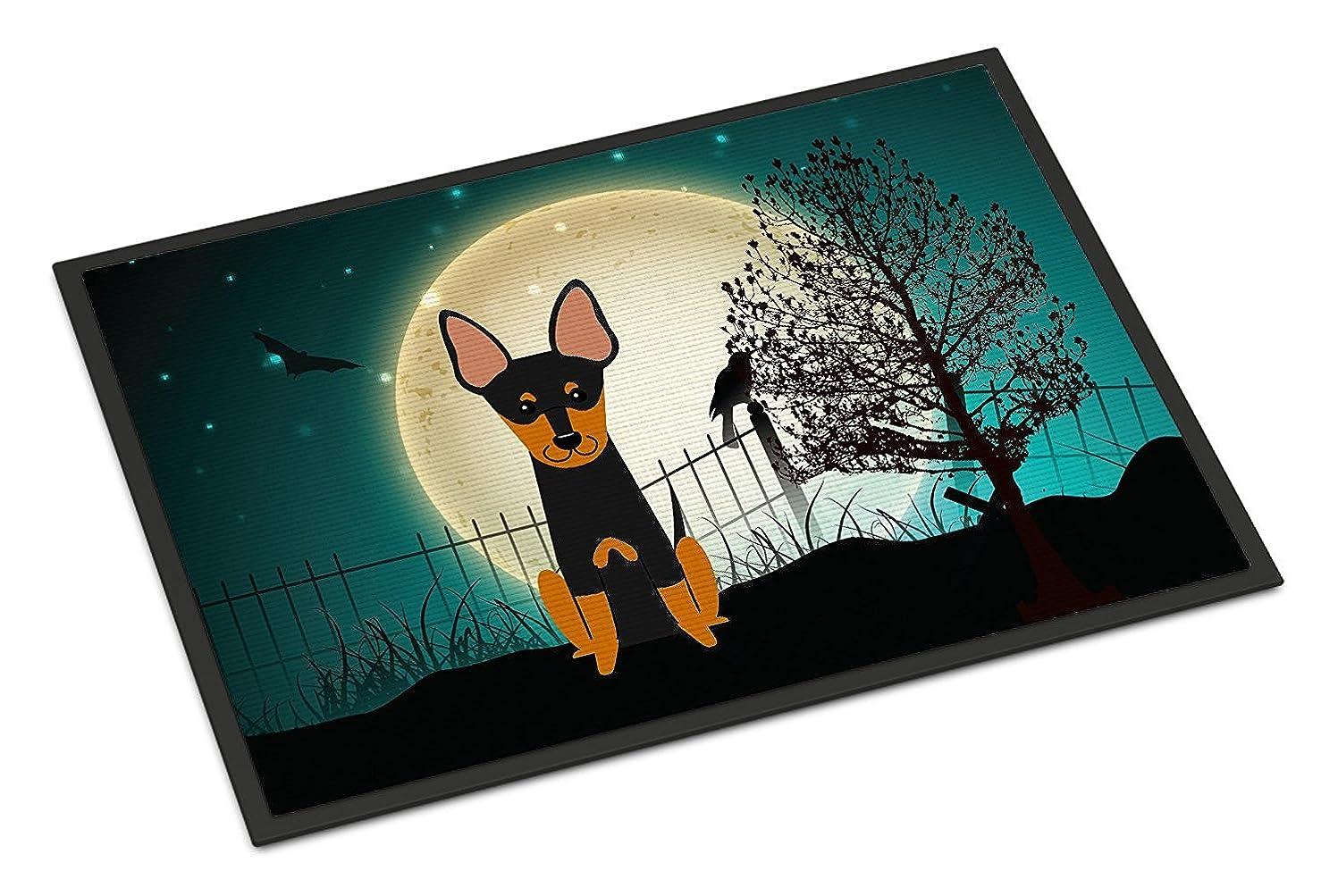反映するスマッシュネイティブCaroline's Treasures BB2299MAT Halloween Scary English Toy Terrier Indoor or Outdoor Mat, 18 x 27', Multicolor [並行輸入品]