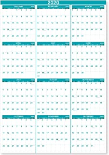 2020 Wall Calendar - 2020 Yearly Wall Calendar, Perfect for Organizing & Planning, January 2020 - December 2020, Premium Thick & Smooth Paper, Vertical, Bonus Gift Pocket, 34.8