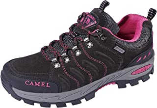 CAMEL CROWN Hiking Shoes for Women Breathable Trail Running Backpacking Walking Shoes Slip Resistant Sneakers Lightweight Athletic Trekking Low Top Boot