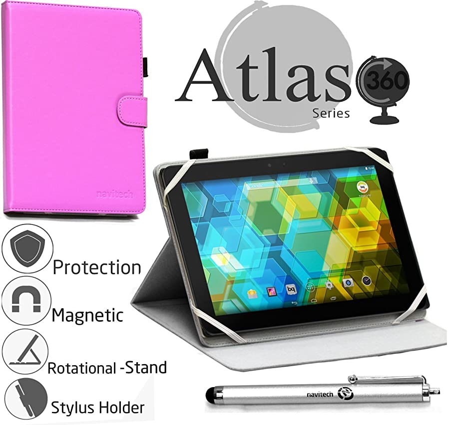 Navitech Purple 360 Rotational Case Cover For Alcatel POP Android 7 inch 4g LTE Unlocked GSM Wifi Tablet