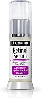 Anti-Aging Retinol Serum for Face - Hyaluronic Acid and Vitamin E - Reduces Fine Lines & Wrinkles – Clinically Proven Facial Skin Treatment - Natural and Organic