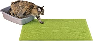 FurHaven Pet Food Mat   Tiger Tough Tidy Paws Litter & Food Mat, Fresh Catnip (Green)