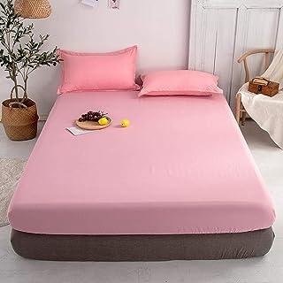 Premium Quality Plain Fitted Sheet, Soft & Cosy Fleece Bed Linen, Kingsize Bedsheet,180x200cm+25cm(3pcs)