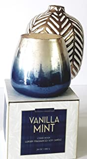 Simply Indulgent Vanilla Mint 2 Wick Luxury Fragranced SoyCandle, Pack of One Extra Large Candle