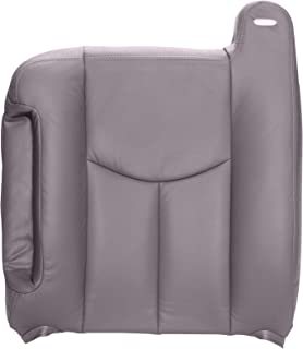 The Seat Shop Driver Top Replacement Seat Cover - Medium Dark Pewter (Gray) Leather (Compatible with 2003-2006 Chevrolet Tahoe, Suburban, Silverado, and GMC Yukon, Yukon XL, Sierra)