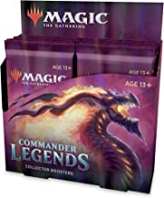 Magic: The Gathering Commander Legends Collector Booster Box | 12 Booster Packs (180 Cards) | 60 Legends | 156 Foils | Min...