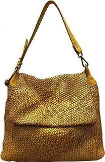 BZNA Bag Tarja gelb Italy Designer Messenger Damen Handtasche Schultertasche Tasche Leder Shopper Neu