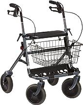 Dietz Rollator Fakto+, faltbar, belastbar bis 130 kg I mit Einkaufskorb, Tablett, Sitz, Stockhalte, geräuscharmen PU-Reife...