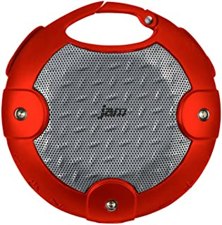 JAM Xterior Rugged Wireless Bluetooth Speaker, Dust Proof, Drop Proof, Waterproof, IP67 Rating, Built-in Speakerphone, Integrated Clip and Screw Mount to hang and Mount on Bike, HX-P480RD Red