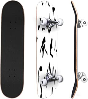 Classic Concave Skateboard Seamless abstract urban pattern with curved geometry elements Canadian Maple Trick Skateboards ...
