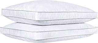 puredown Goose Down Feather Pillows Bed Pillows for Sleeping 100% Natural Cotton Cover Set of 2 King Size