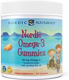 Nordic Naturals Nordic Omega-3 Gummies, Tangerine - 120 Gummies - 83 mg Total Omega-3s with EPA & DHA - Non-GMO - 60 Servings