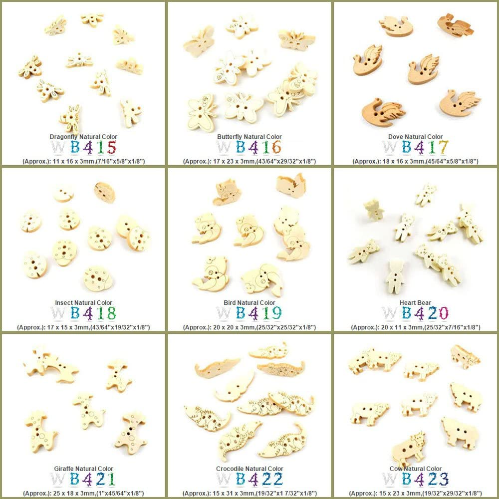 1790 pcs Sewing Buttons Sew Wood San Jose Mall Wooden Selling On Colorful Butto