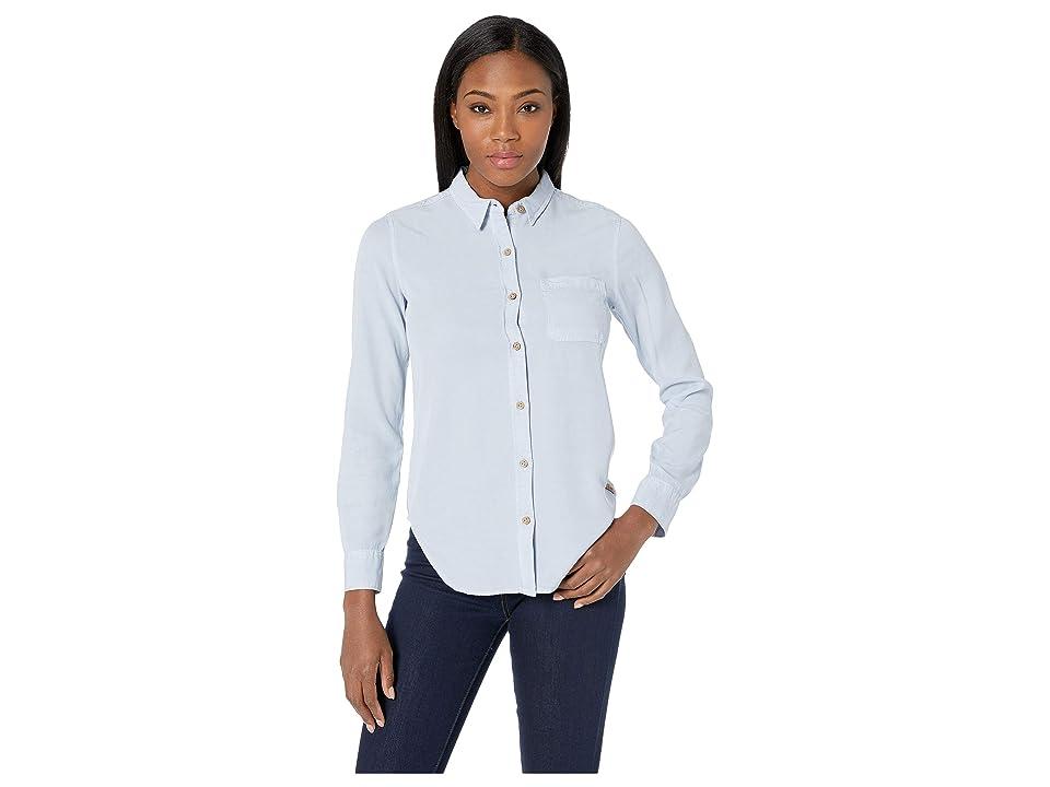 tentree Fernie Long Sleeve Button Up EV2 (Skyway) Women