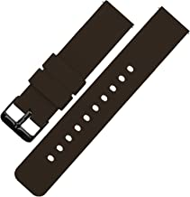 BARTON Watch Bands - Soft Silicone Quick Release Straps - Black Buckle - Choose Color & Width - 16mm, 18mm, 20mm, 22mm, 24mm - Silky Smooth Rubber Watch Bands