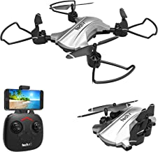 tech rc Foldable FPV Drone with 720p HD WiFi Camera, Auto Hovering, Headless Mode, One-Key Flight/Land, 15mins Long Fly Time, Never Lost with Low Power Reminder, Portable RC Drone for Beginners