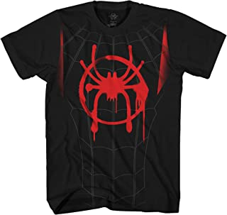 Ultimate Spiderman Spider-Man Miles Morales Costume Cosplay Adult T-Shirt