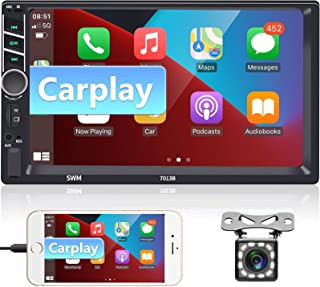 """$93 » Sponsored Ad - Car Stereo Double Din Apple CarPlay and Android Auto,podofo 7 """" 1080P Touch Screen Car Radio with Bluetooth..."""