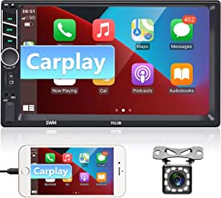 """$91 » Sponsored Ad - Car Stereo Double Din Apple CarPlay and Android Auto,podofo 7 """" 1080P Touch Screen Car Radio with Bluetooth..."""
