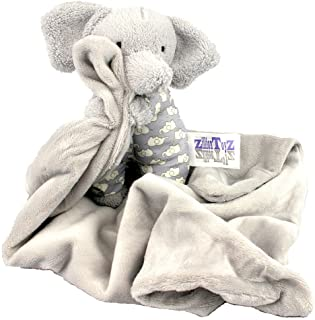 Zillion Toyz Infant Baby Soother Security Lovey Blanket Plush Elephant