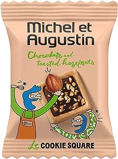 Michel et Augustin Chocolate French Cookie Bulk Mini Squares (180 Squares) | Hazelnut Pure Butter Shortbread