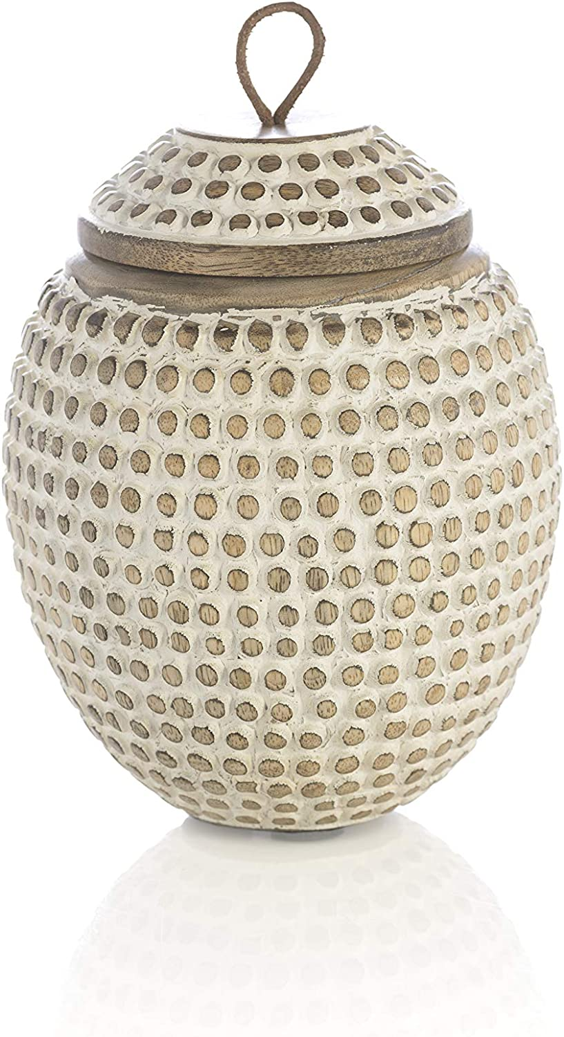 Overseas parallel OFFer import regular item Shiraleah Home Arvid CANISTERS Size Natural JARS One