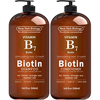 Biotin Shampoo and Conditioner Set for Hair Growth and Volume – Anti Dandruff Thickening Formula for Hair Loss and Thinning Hair – Volumizing and Nourishing – 16.9 fl Oz…