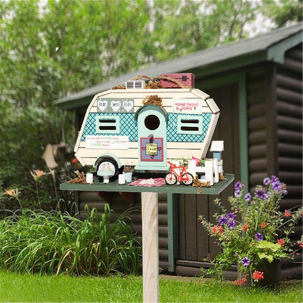 ZoSiP Casas para Pájaros Forma Creativa Motel Al Aire Verticales De Madera Al Aire Libre Alimentador De Pájaros Granja Patio Jardín Cottages Cabina Decoración Birdhouse para Muchas Aves: Amazon.es: Hogar