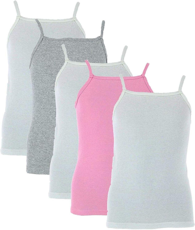 ALF_ECC 1 Pack Girl's Cami Undershirts (5 Pair Pack, Large, Multicolor)