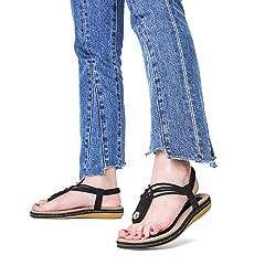 11dcabef5d3f gracosy Women Summer Flat Sandals Slingback Ankle Strap Sanda .
