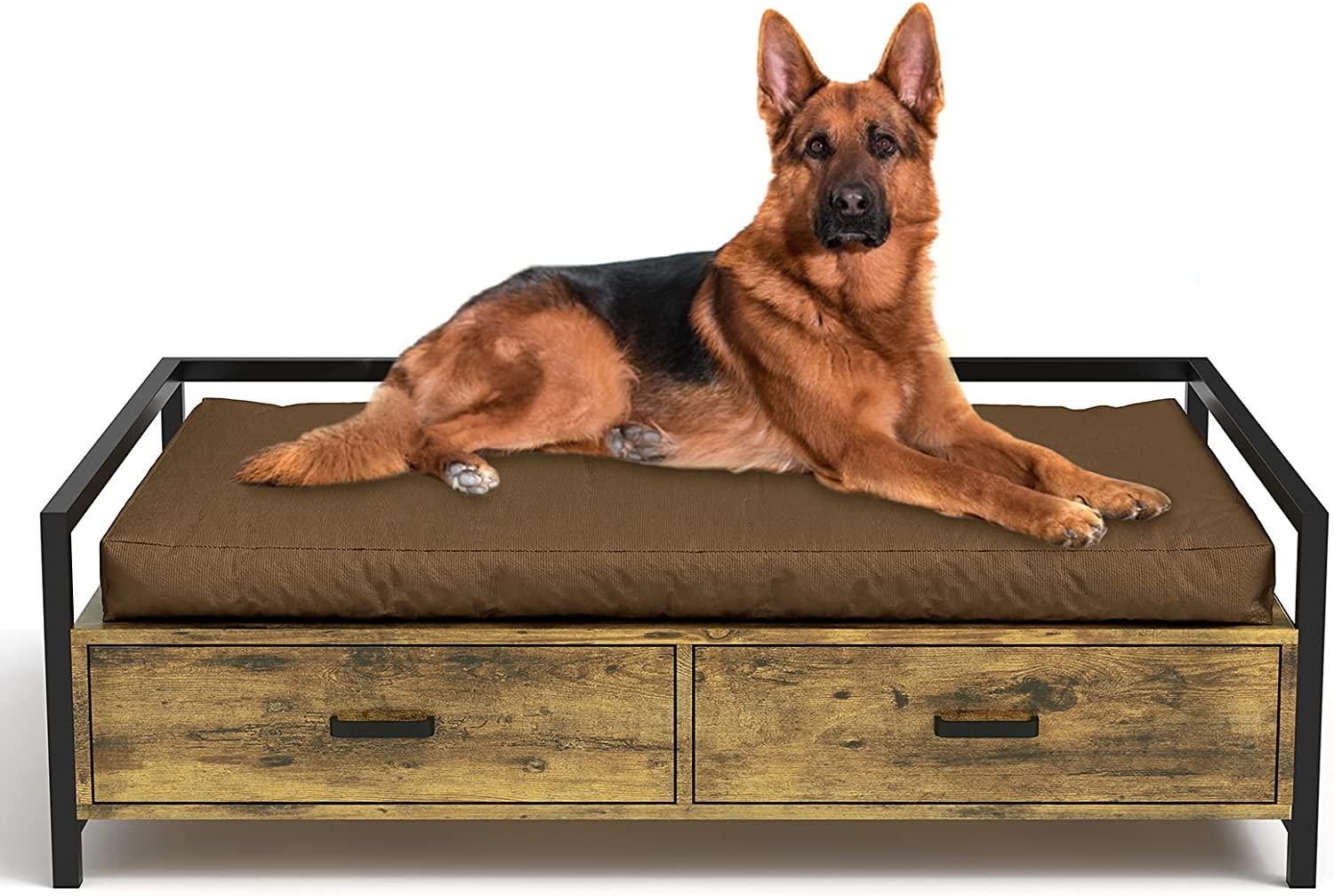 Genuine Free Shipping MSMASK Elevated Dog Beds Frame Dogs Sofa Recommendation Cats Chair with Drawer