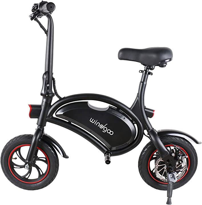 Bicicletta elettrica e-bike pieghevole ruota 12`` lg 36v/4.4ah motore 350 w velocità max 30 km/h windgoo B07V4J9LQB
