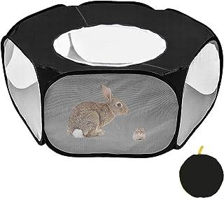 comprar comparacion Furpaw Jaulas para Animales Pequeños, Portátil Jaula Hamster Transpirable Transparente Jaula Cobaya en Negro Plegable
