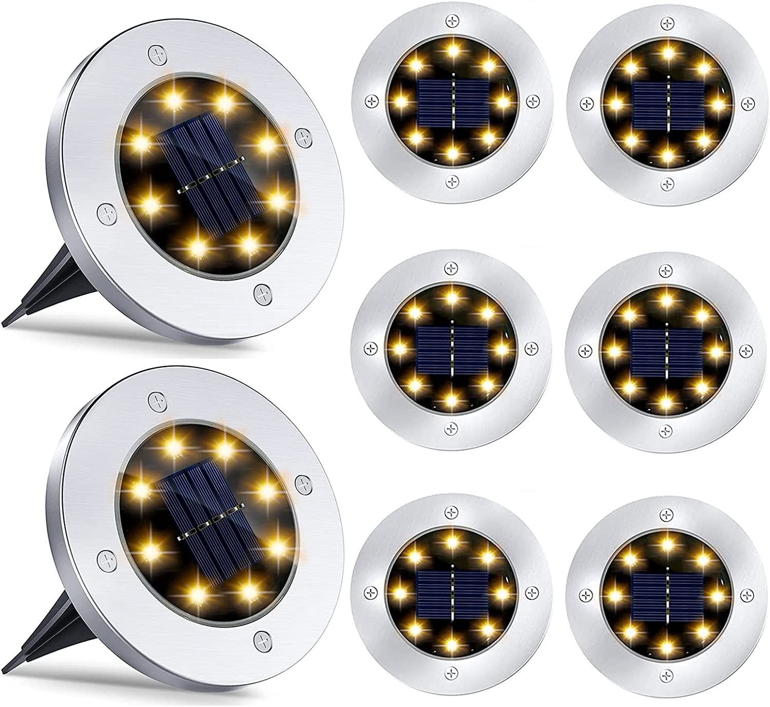 ATXOI Complete Free Shipping 8 LED Solar Lights Ground Outdoor- Garden SALENEW very popular!