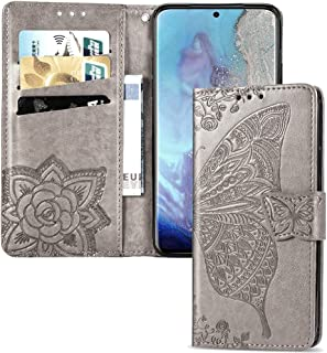 Larook Case for Honor Play 4T, Butterfly Pattern Flip Case Wallet Stylish with Stand Function and Magnetic PU Case Cover f...