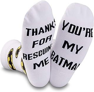 NOBRANDS, DC Comics - Calcetines de Batman para papá, novio, marido, regalo del día del padre, superhéroe y papá