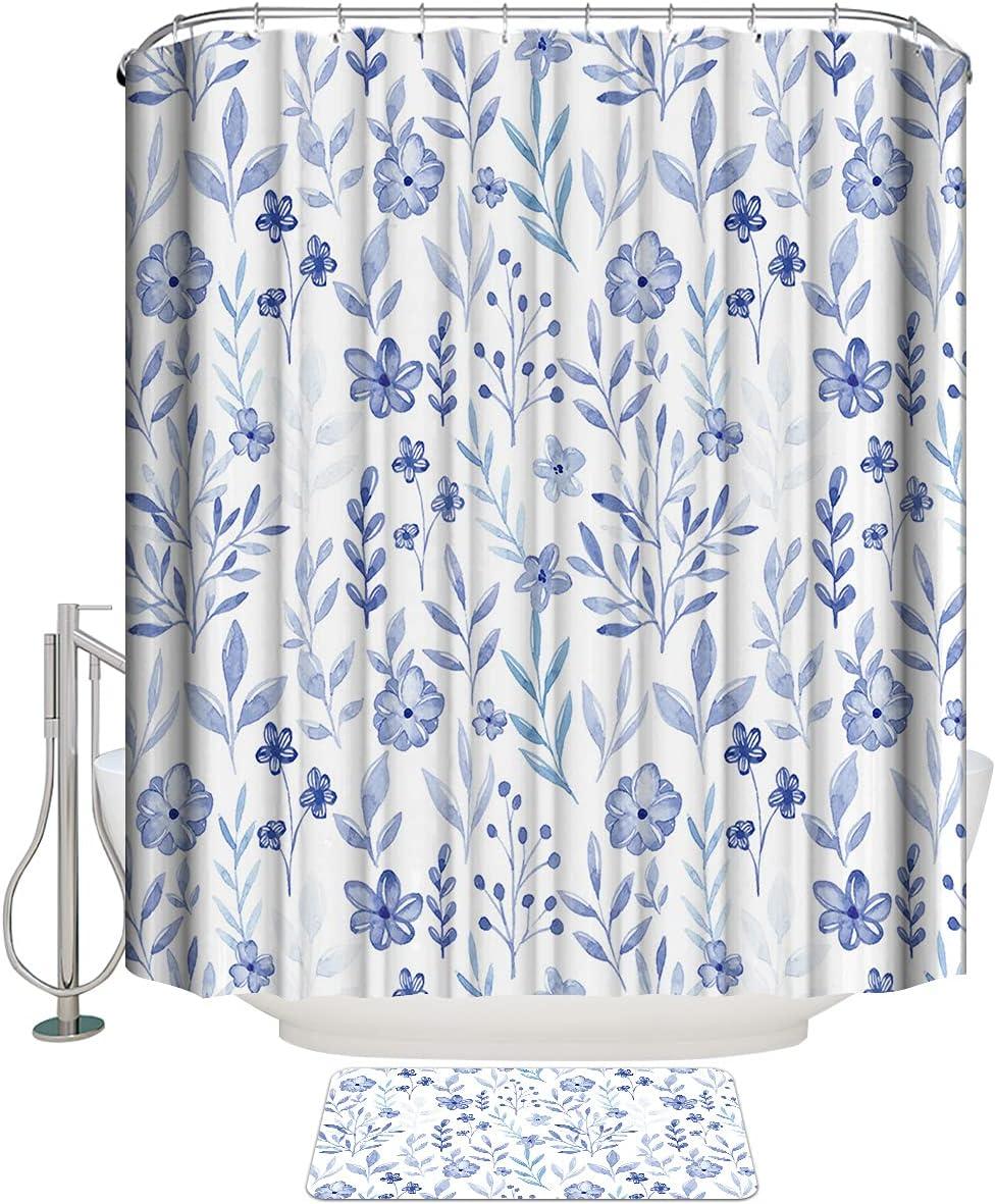COLORSUM 2 Pcs Sets Shower an Flowers Curtains Superlatite Purple Free Shipping Cheap Bargain Gift Watercolor