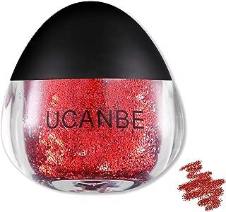 UCANBE Glitter Gel for Face, Body and Hair, Cruelty-Free, 0.63 fl. Oz (rubine)