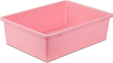 Honey-Can-Do PRT-SRT1603-LGDKPNK Plastic Storage Bin, Large, Dark Pink