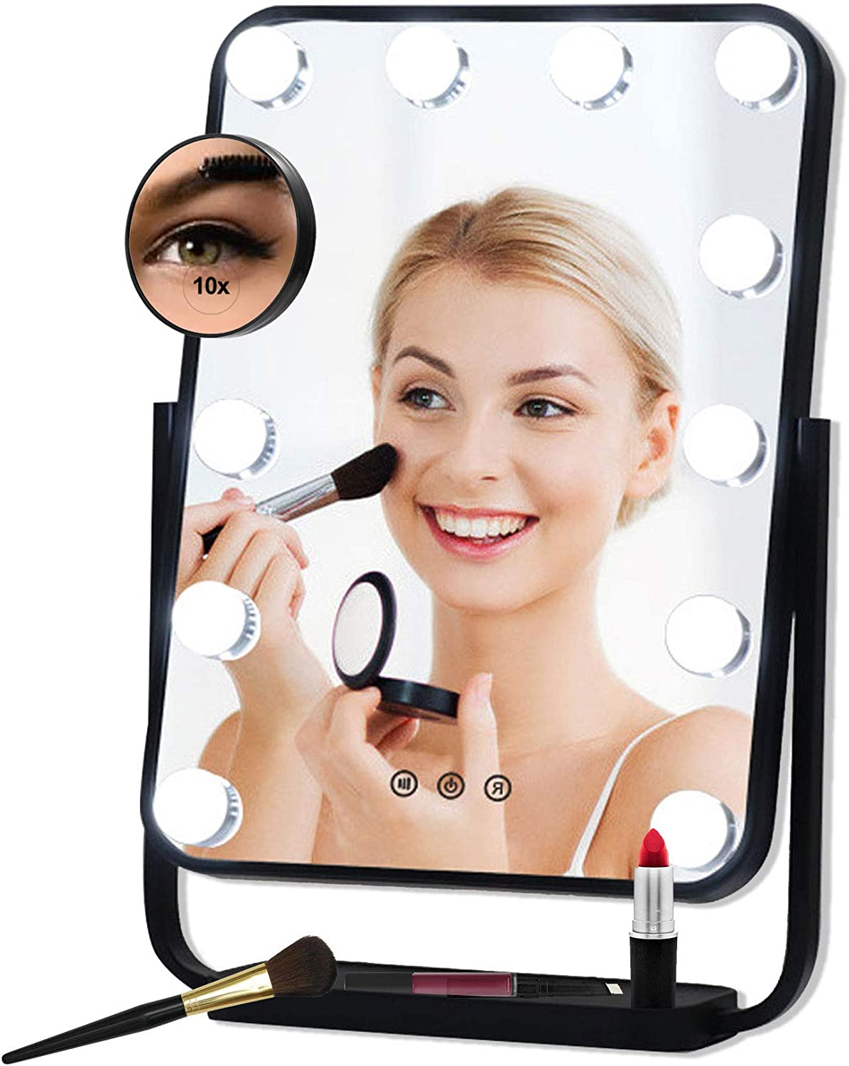 Vanity Mirror with 12 Boston Mall pcs Hollywood Lighting LED Makeup Product