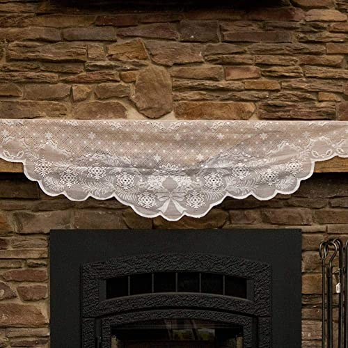 2021 Miles discount Kimball Lighted Mantel high quality Scarf White One Size Fits All online sale