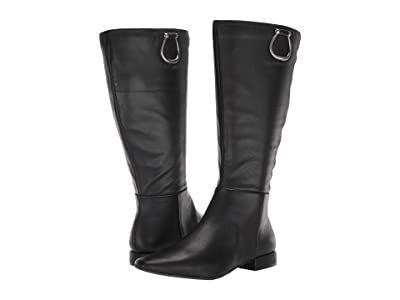 Naturalizer Carella Wide Shaft (Black Leather) Women