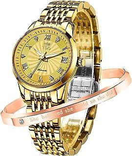 Automatic Watches for Women no Battery Original Mechanical Movement Luxury Classic Stainless Steel Luminous Waterproof Lady Wrist Watch