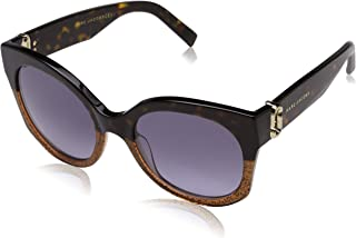 Marc Jacobs Women's Marc 247/S GB DXH 53 Sunglasses, Brown (Hay Bwglt Gld/Gy Grey)