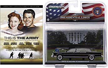 All American Collection Ronald Reagan - This is the Army (Special Collector's Edition) DVD & US President Reagan's 1972 Lincoln Continental Limousine 1:43 Size Diecast Bundle