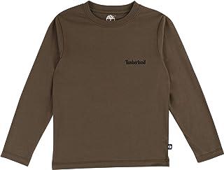 Timberland T45796 655 - Camiseta para niño, Color Caqui